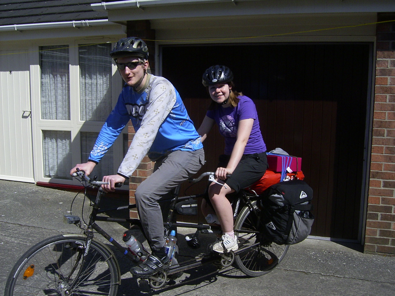 Emma & Mike ready to set off home